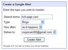 google blog alert