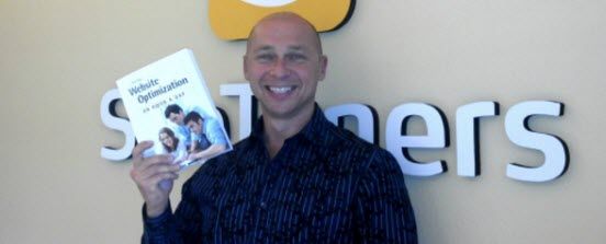 Tim Ash with my book